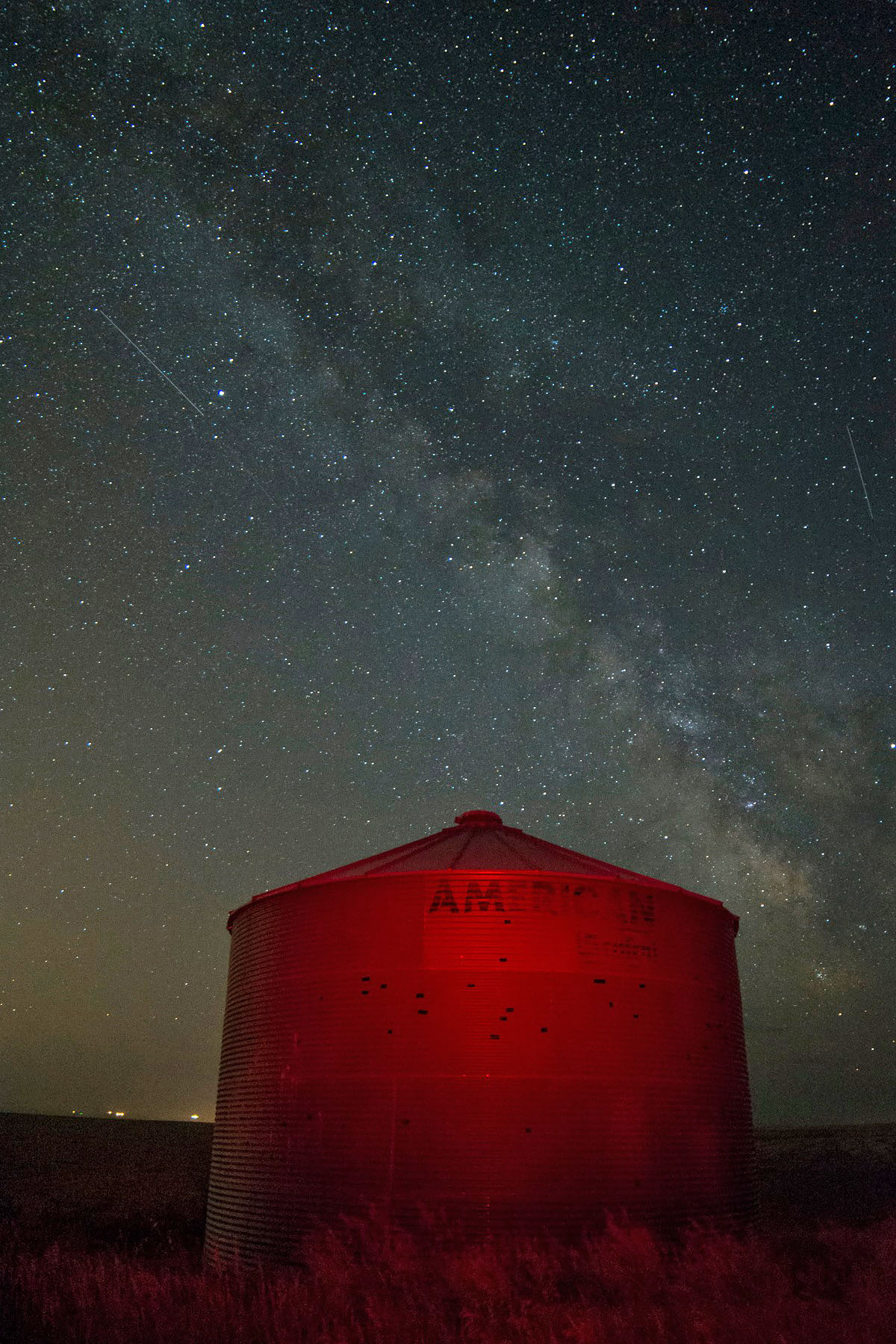 Silo with Milky Way